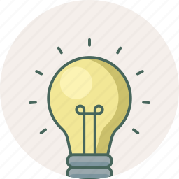 bulb, creative, electric, idea, innovation, light, lightbulb icon