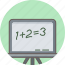calculation, education, math, mathematical, mathematics, maths, school icon