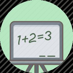 calculation, education, math, mathematical, mathematics, maths, school icon