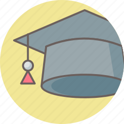 academia, cap, education, graduate, graduation, hat, university icon