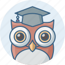 classroom, education, owl, school, smart class, smartclasses, teacher icon