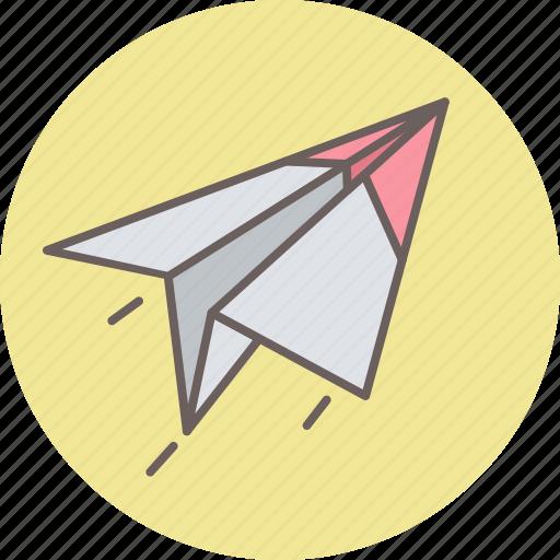 deliver, delivery, document, paper, plane, post, send icon