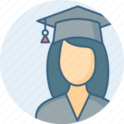 diploma, education, girl, graduate, student, topper, university icon