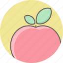 apple, food, fruit, health, healthy, red icon
