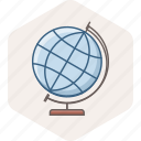 abroad, distance, education, global, globe, learning, study icon