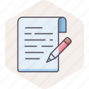 document, edit, note, notes, pencil, text, write icon