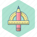 compass, geomatry, geometric, geometry, ruler, triangle icon
