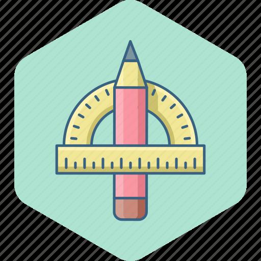 compass, geomatry, geometric, geometry, ruler, triangle icon