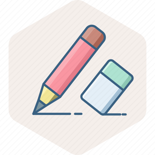 edit, erase, eraser, office, pencil, stationary, writing icon