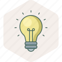 bulb, creative, electric, energy, idea, power, shape icon