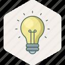 bulb, electric, power, energy, idea, creative, shape