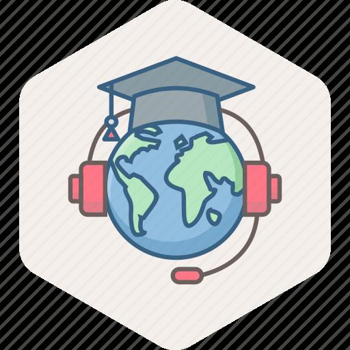 education, elearn, elearning, graduate, knowledge, learning, university icon