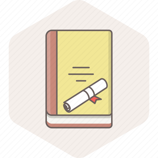 book, bookmark, degree, diploma, holder, learning, study icon