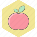 apple, breakfast, food, fresh, fruit, health, healthy icon