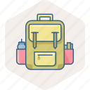 bag, education, learning, school, student, study icon