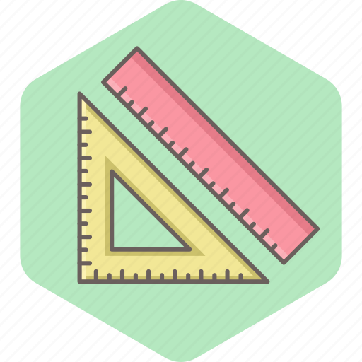 education, learning, ruler, school, student, tool icon