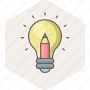 bulb, creative, idea, innovation, light, power icon