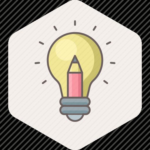 Bulb, idea, light, innovation, power, creative icon