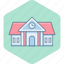 building, college, home, house, property, school, university icon