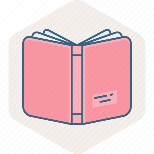 address, book, education, learning, library, notebook, study icon