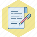 document, note, notes, page, paper, write, writing icon