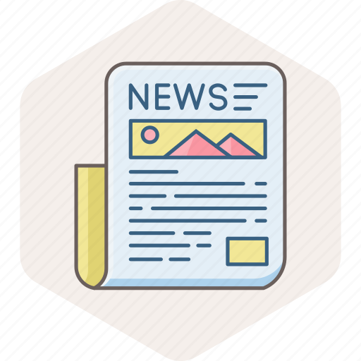 communication, document, media, news, newsletter, newspaper, paper icon