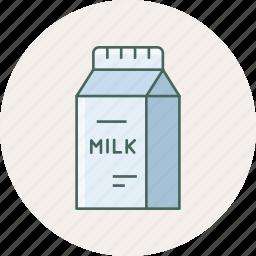 bottle, breakfast, drink, kitchen, milk, package, packet icon