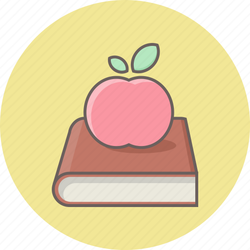 apple, book, education, fruit, fruitbook, knowledge icon