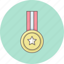 army, badge, medal, military, reward, soldier, star icon