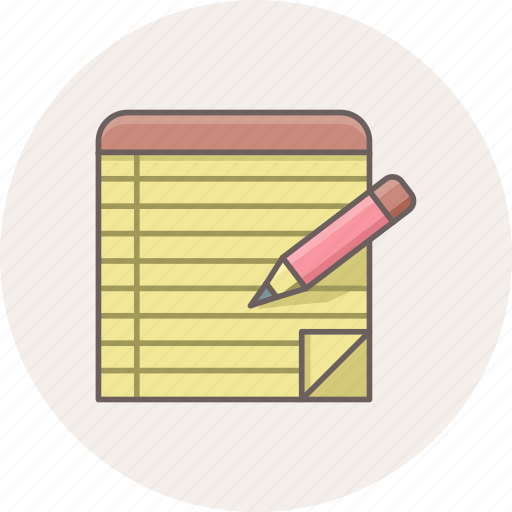 edit, note, notes, pencil, text, write, writing icon