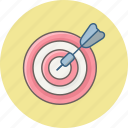 achievement, aim, bullseye, focus, goal, success, target icon