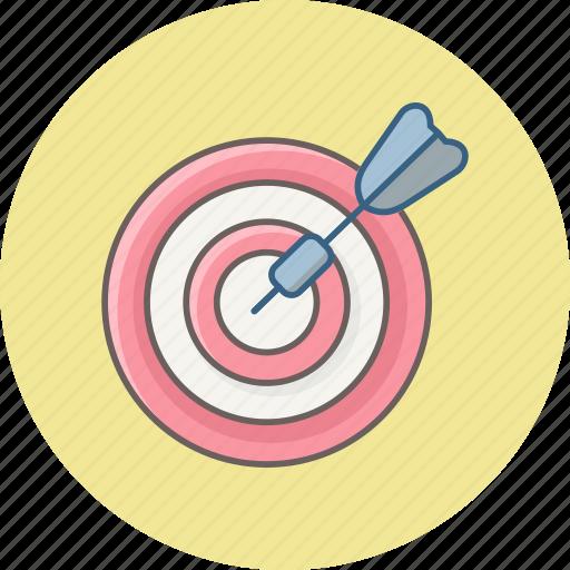 achievement, aim, bullseye, focus, goal, success, target icon
