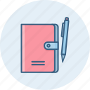 book, document, documents, files, folder, notebook, pen icon