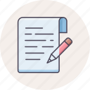 document, edit, note, notes, text, write, writing icon