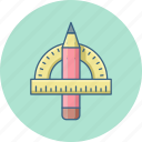 compass, edit, geometric, geometry, pencil, ruler icon