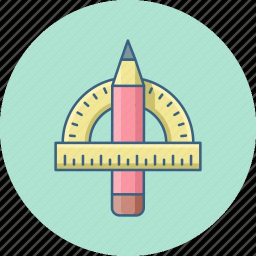compass, edit, geometric, geometry, pencil, ruler icon