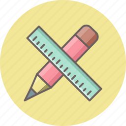 business, document, office, pencil, ruler, stationery, work icon