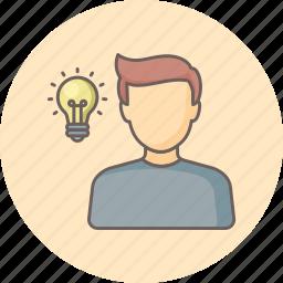 bulb, education, energy, idea, lightbulb, power, student icon