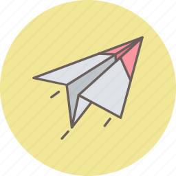 airplane, document, paper, plane, post, send icon