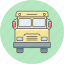 school, shipping, transport, transportation, truck, van icon