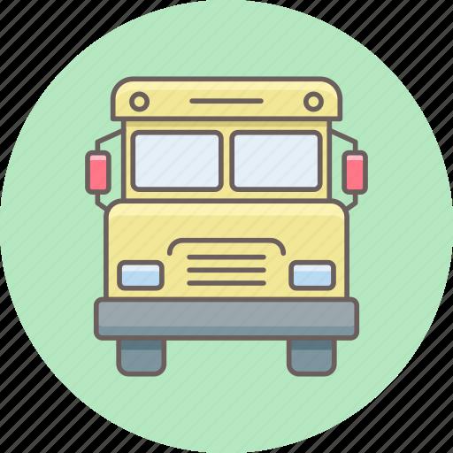 school, shipping, transport, transportation, truck, van icon