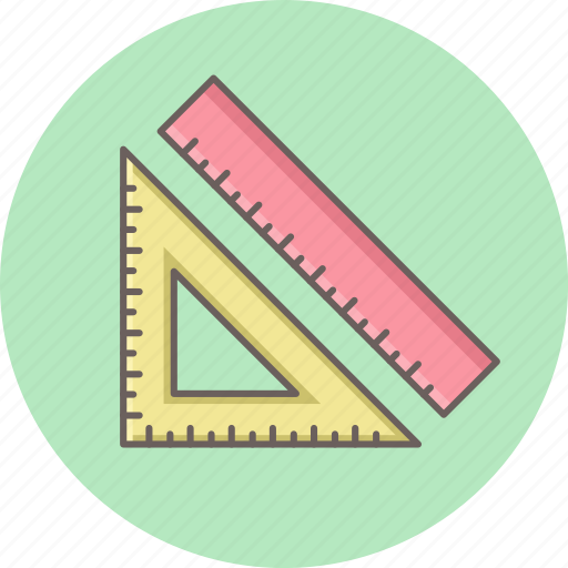 compass, design, geometry, ruler, triangle icon