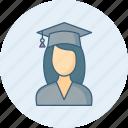 diploma, girl, degree, education, study, university