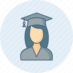 degree, diploma, education, girl, study, university icon
