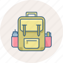 bag, education, knowledge, learning, school, study icon