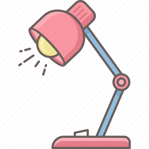 desk, education, electric, lamp, light, study, table icon