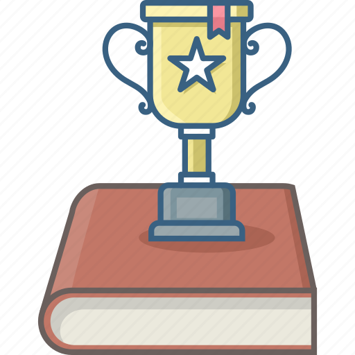 achievement, award, book, cup, education, trophy icon