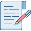 document, list, note, notes, text, write, writing icon