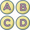 alphabet, alphabets, english, letter, letters, message, text icon