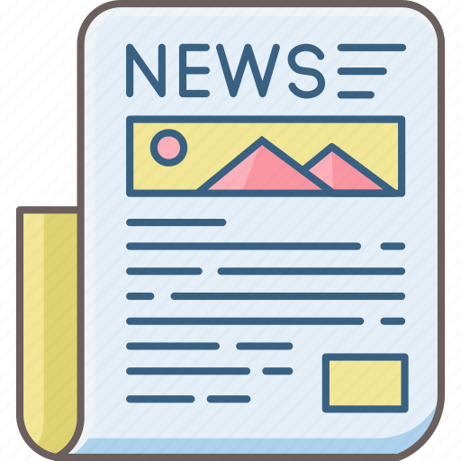 article, blog, media, news, news paper, newsletter, newspaper icon
